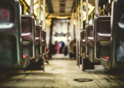 Der Bus fährt fast bis zur Haustür