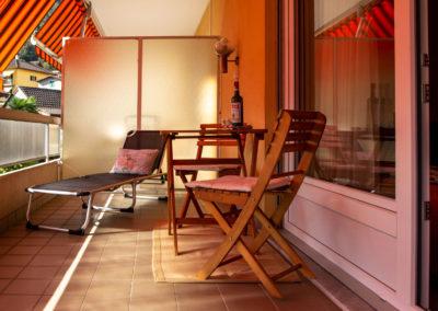 Balkon der Ferienwohnung Minusio
