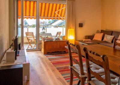 Minusio Ferienwohnung Wohnzimmer